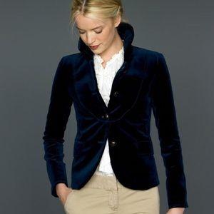 J. Crew Jackets & Coats - JCrew Blue Velvet Bella Blazer